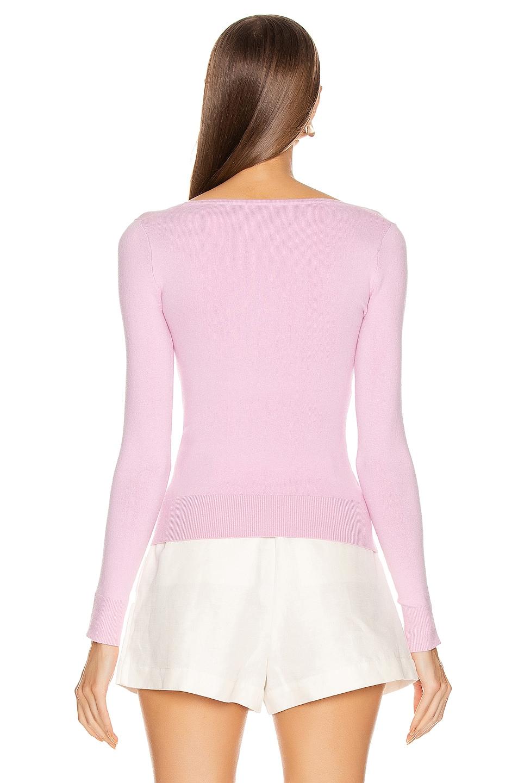 Image 3 of JoosTricot Scoop Neck Sweater in Wild Rose