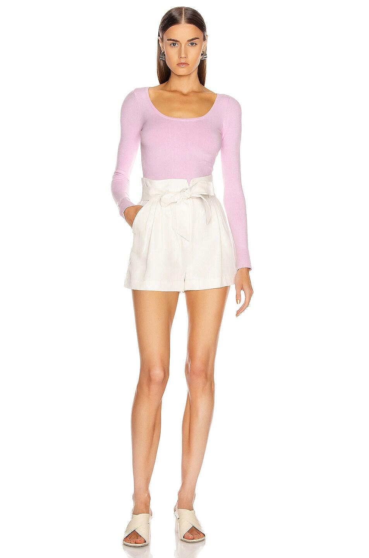 Image 4 of JoosTricot Scoop Neck Sweater in Wild Rose