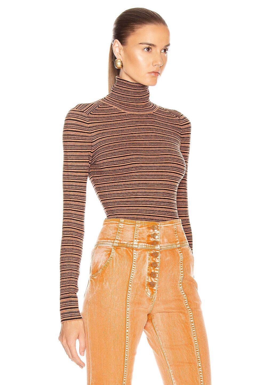 Image 2 of JoosTricot Long Sleeve Turtleneck Sweater in Cinnamon & Coal