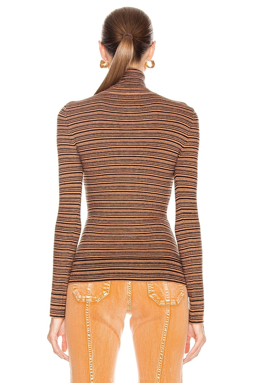 Image 3 of JoosTricot Long Sleeve Turtleneck Sweater in Cinnamon & Coal