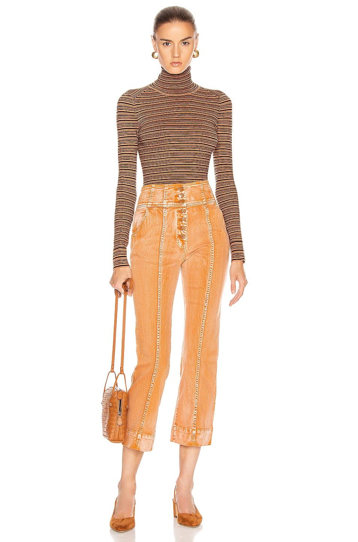 Image 4 of JoosTricot Long Sleeve Turtleneck Sweater in Cinnamon & Coal