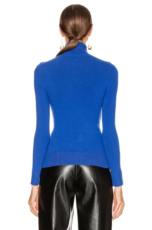 Image 3 of JoosTricot Long Sleeve Turtleneck Sweater in Ultramarine