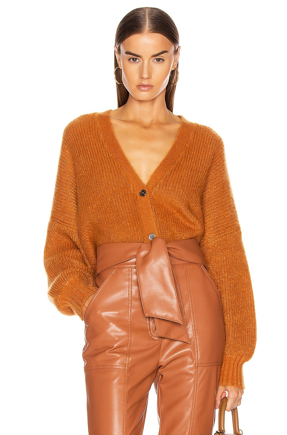 Image 1 of JoosTricot Crop Cardigan in Ochre