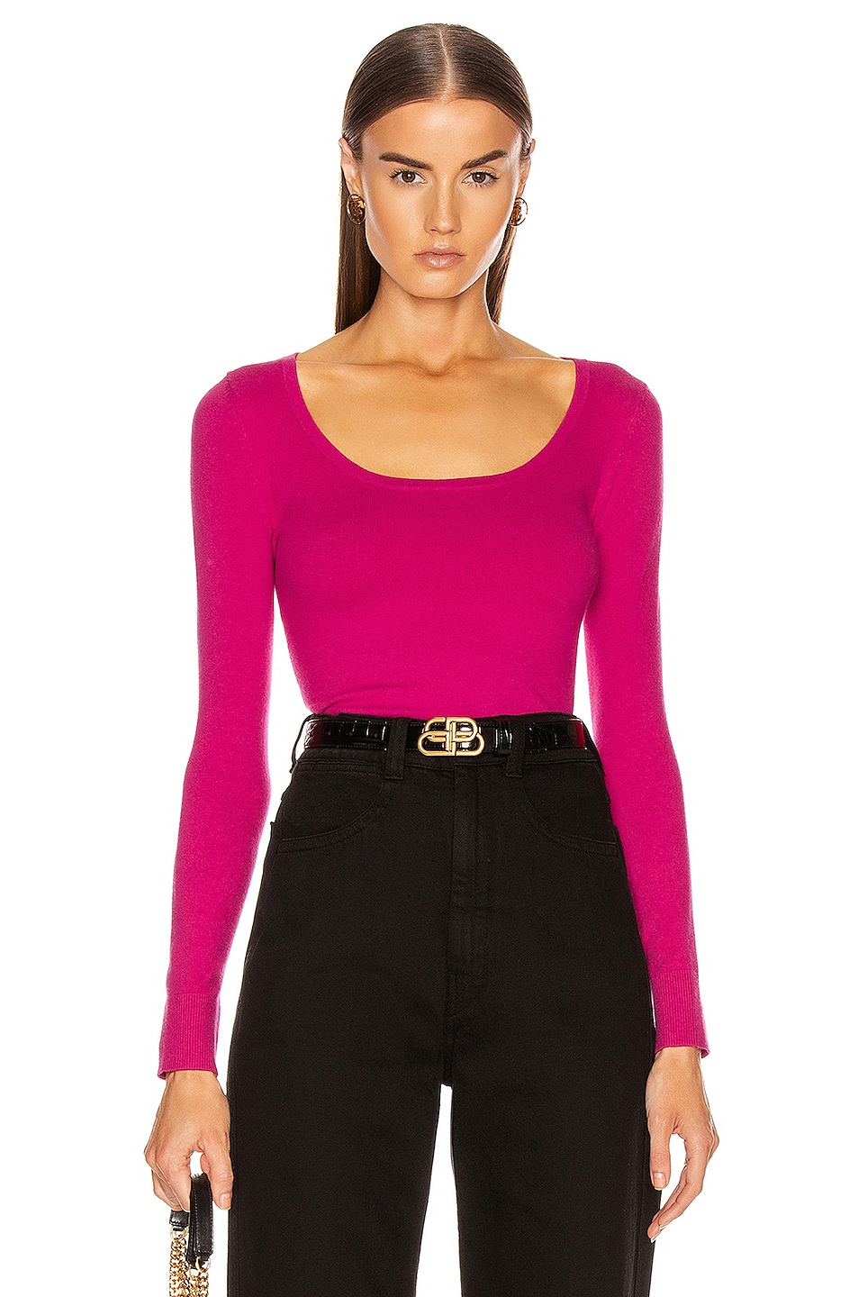 Image 1 of JoosTricot Long Sleeve Scoop Neck Sweater in Fashionista