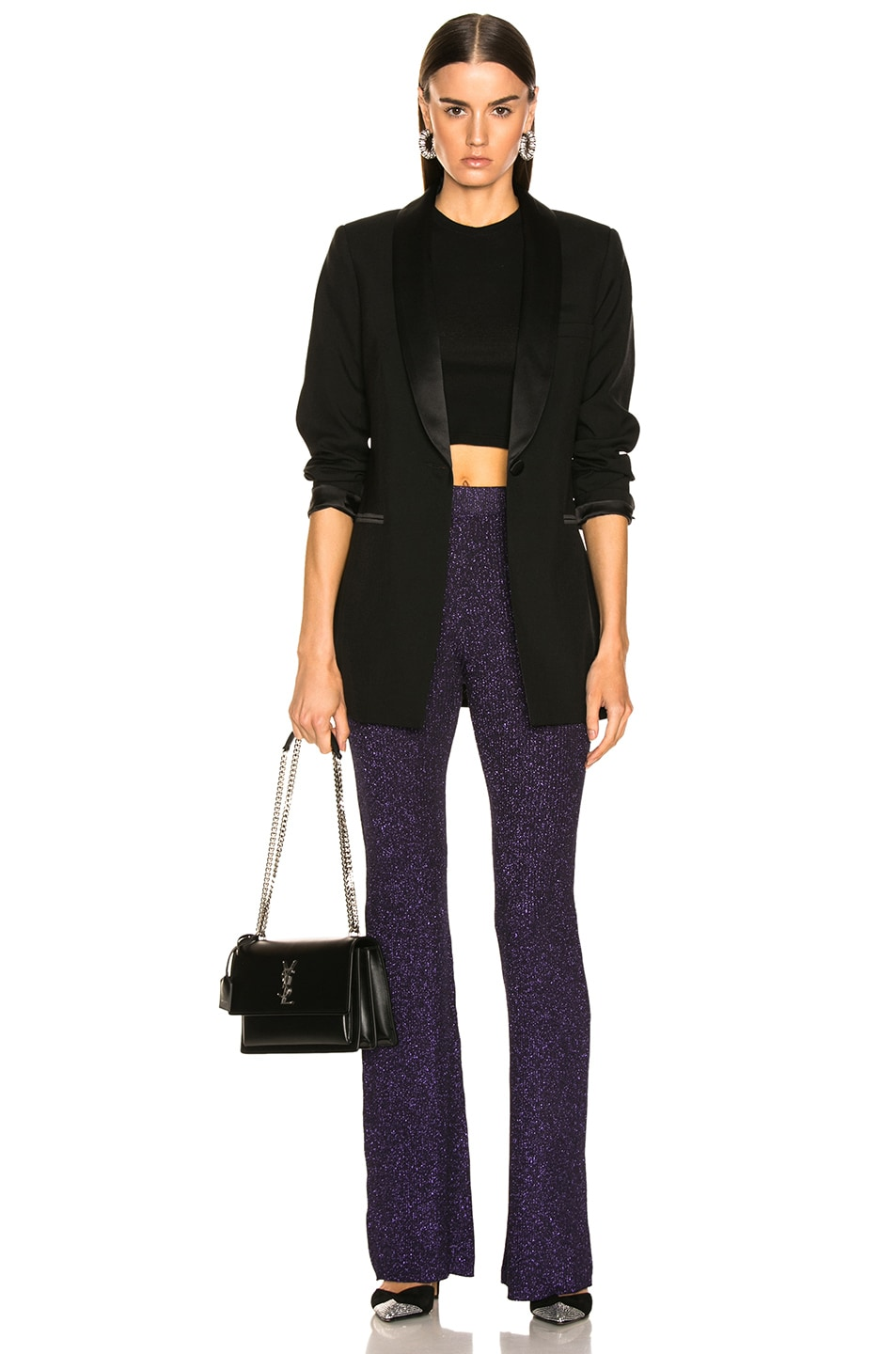 Image 4 of JoosTricot Flared Pants in Purple