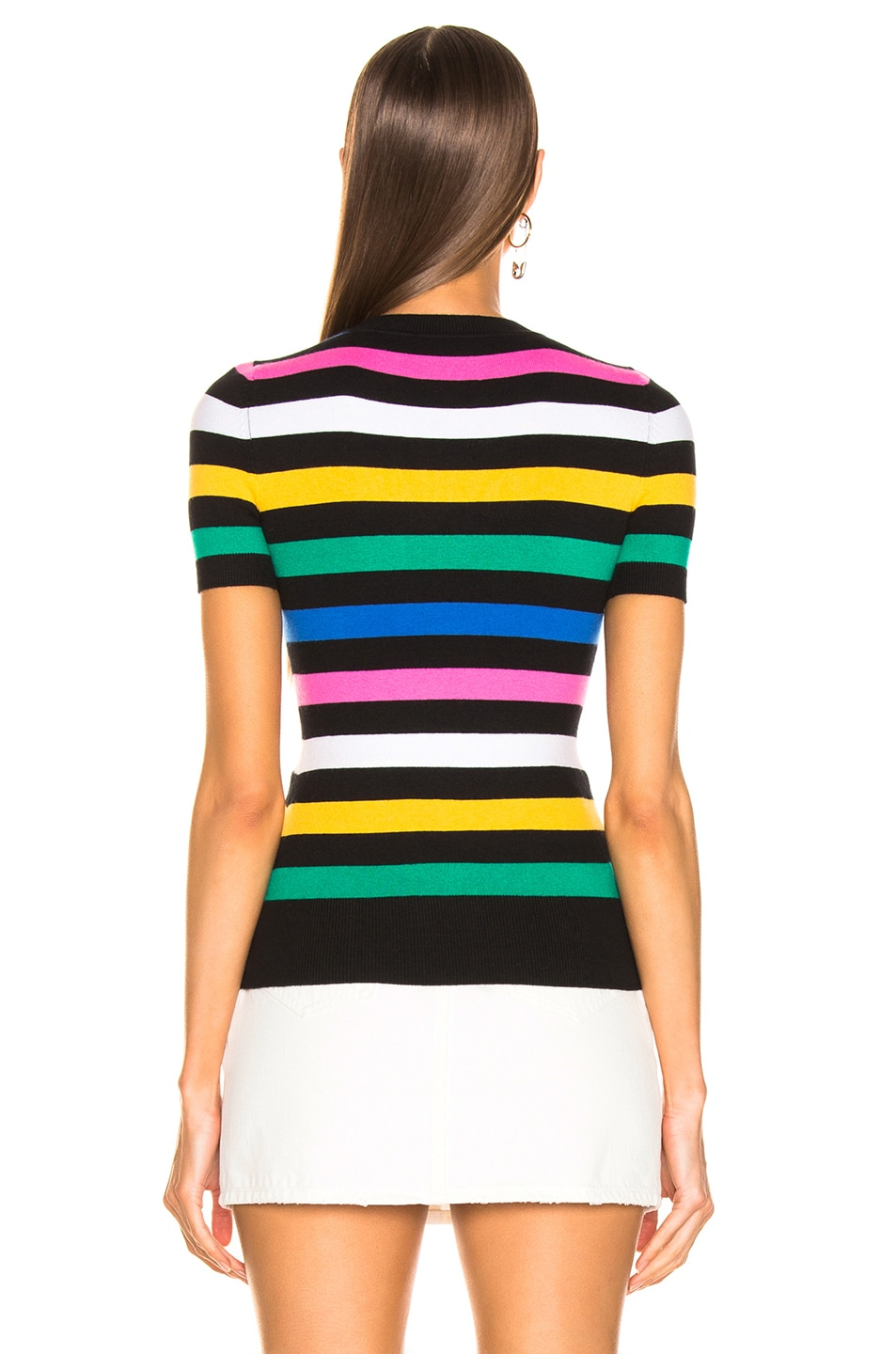 Image 3 of JoosTricot Crew Neck Tee in Black Stripes