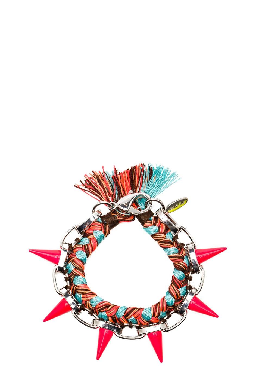 Image 1 of JOOMI LIM Punk Carnival Bracelet in Mint Orange Combo & Pink