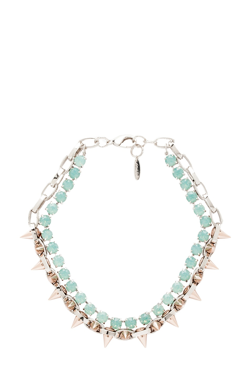 Image 1 of JOOMI LIM Crystal and Spike Choker in Green Opal