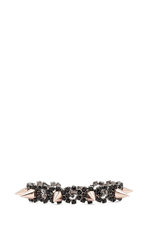 Image 1 of JOOMI LIM Crystal and Spike Bracelet in Jet & Rose Gold