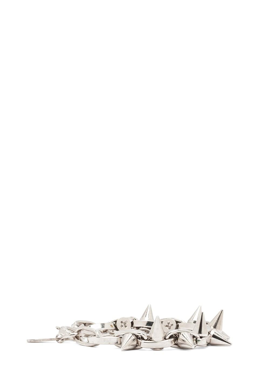 Image 2 of JOOMI LIM Double Row Spike Bracelet in Rhodium & Silver