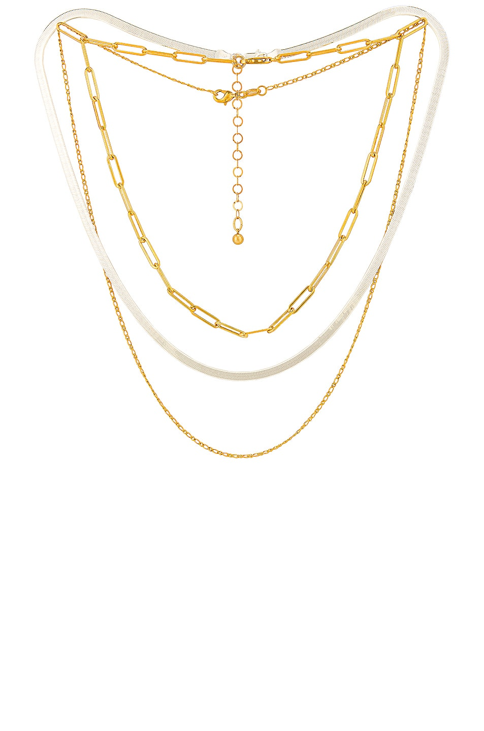 Image 1 of Jordan Road Jewelry for FWRD Samba Necklace Stack in Gold & Silver