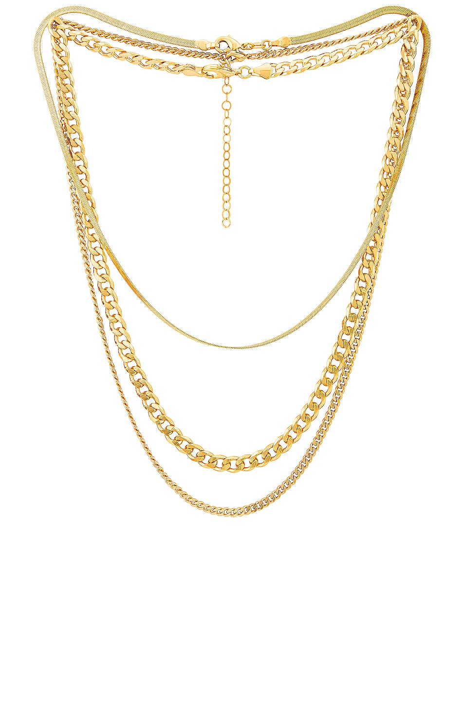 Image 1 of Jordan Road Jewelry for FWRD Sydney Necklace Stack in Gold