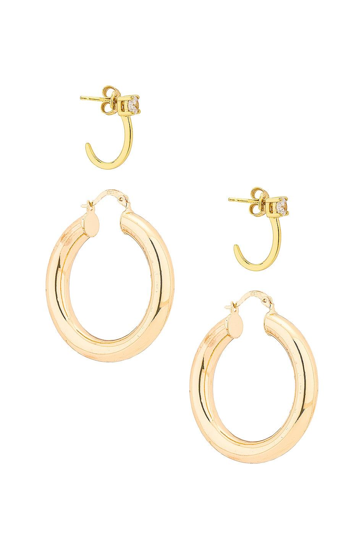 Image 1 of Jordan Road Jewelry Bonjour Earring Set in Gold