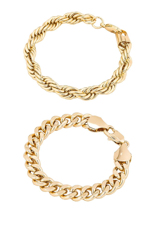 Image 1 of Jordan Road Jewelry Casablanca Bracelet Stack in Gold