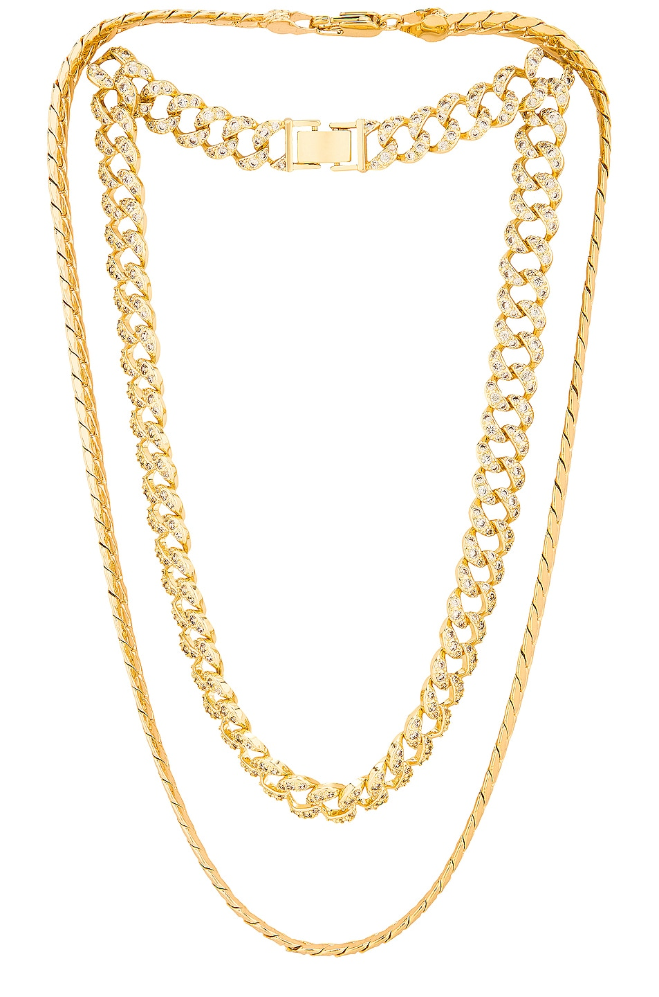 Image 1 of Jordan Road Jewelry Chateau Necklace Stack in Gold