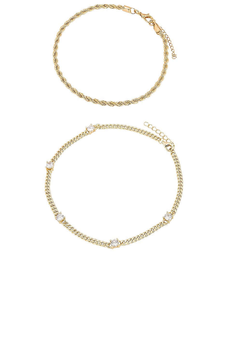 Image 1 of Jordan Road Jewelry The Ivy Anklet Set in Gold