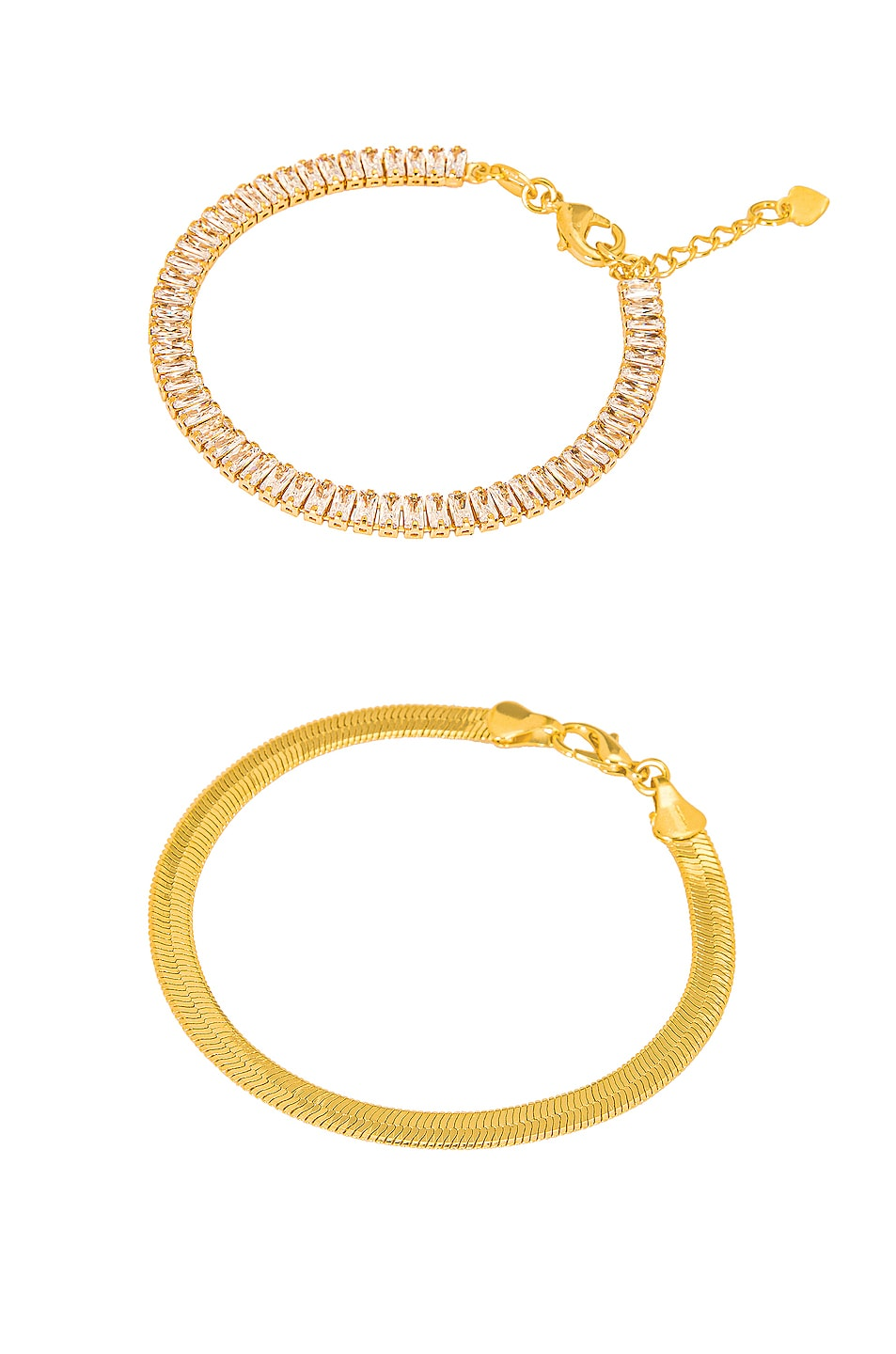 Image 1 of Jordan Road Jewelry for FWRD Cosmo Bracelet Stack in Gold
