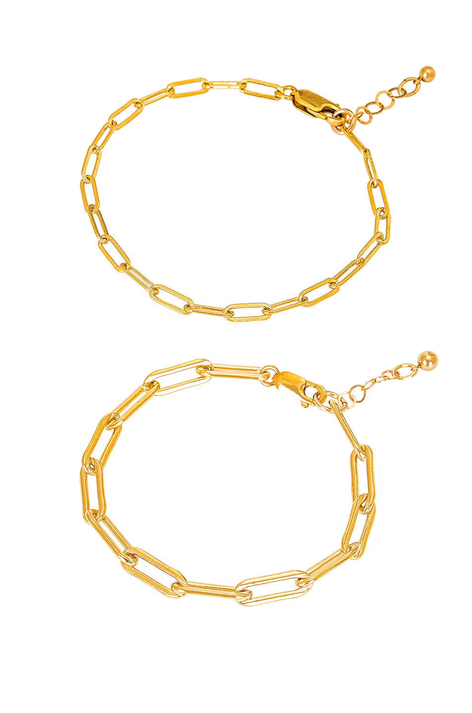 Image 1 of Jordan Road Jewelry for FWRD Le Duo Bracelet Stack in Gold