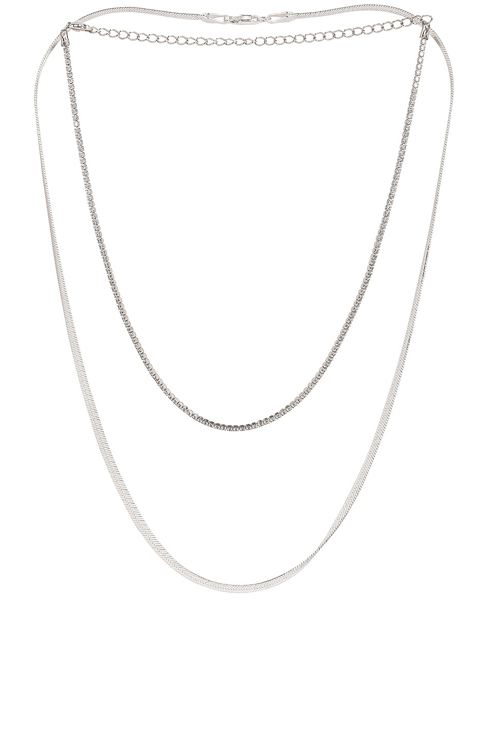 Image 1 of Jordan Road Jewelry for FWRD Gramercy Necklace Stack in Silver