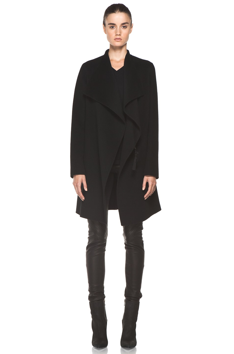 Image 1 of Joseph Lisa Cashmere Double Face Coat in Black