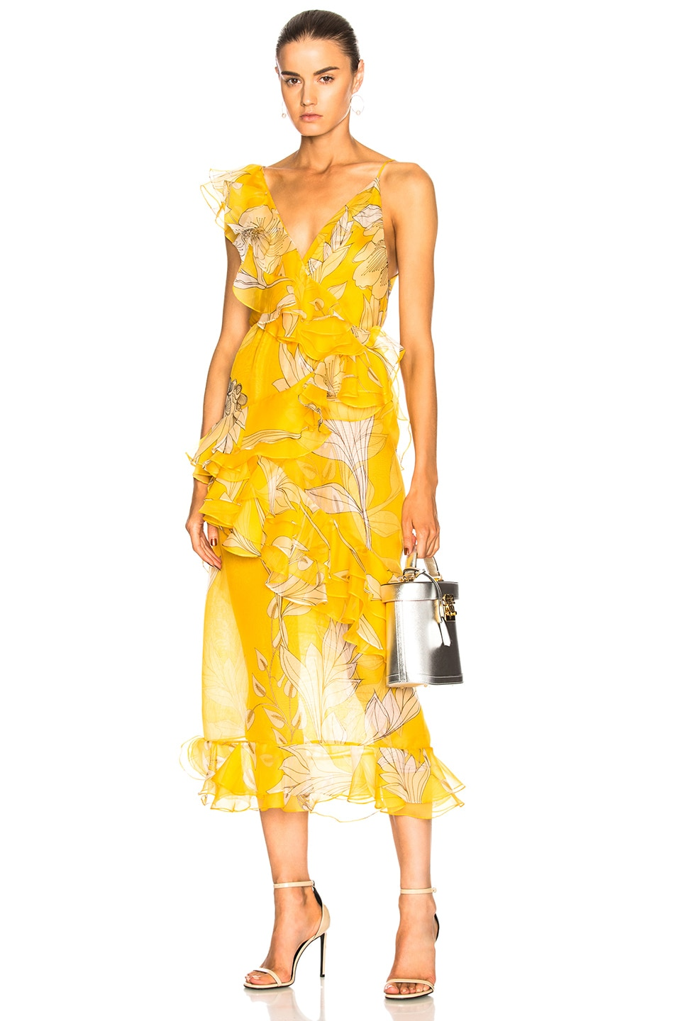 SUNLIGHT SILK MIDI DRESS