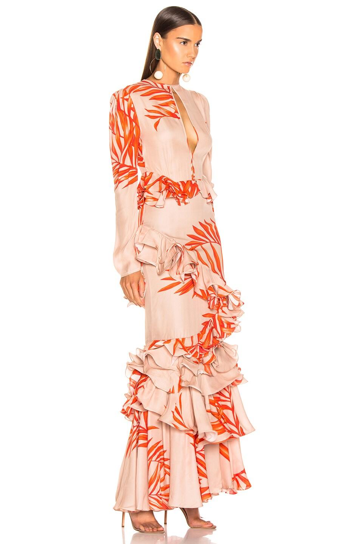 Image 2 of Johanna Ortiz California Dreaming Dress in Camel & Tangerine