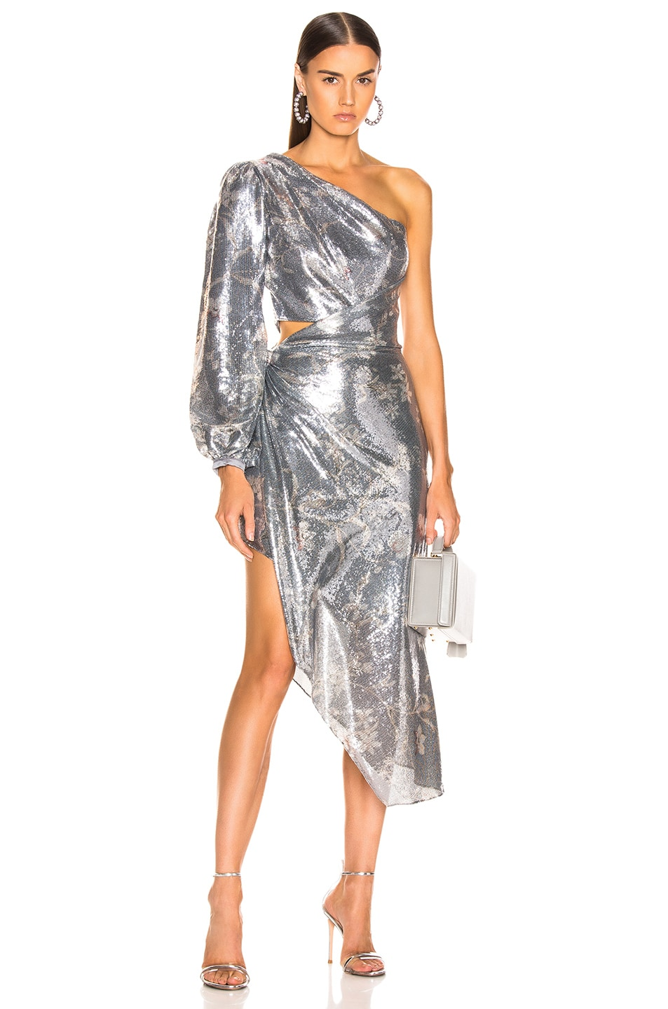 Image 1 of Johanna Ortiz Glassy Orchid Dress in Gray