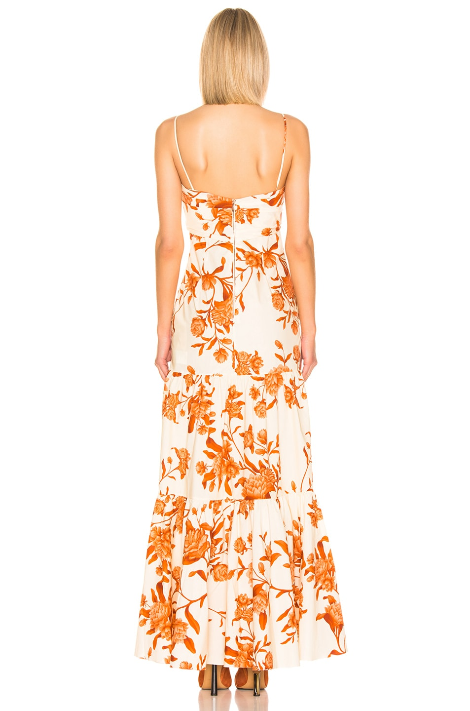 Image 3 of Johanna Ortiz Corazon Pacifico Dress in White & Nectarine