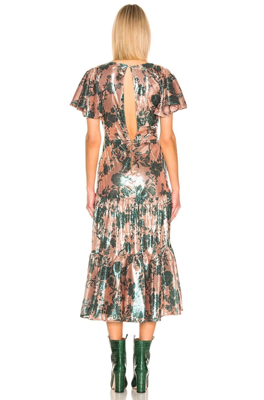 Image 3 of Johanna Ortiz Modern Day Muse Dress in Chestnut & Garden Jade Sequin