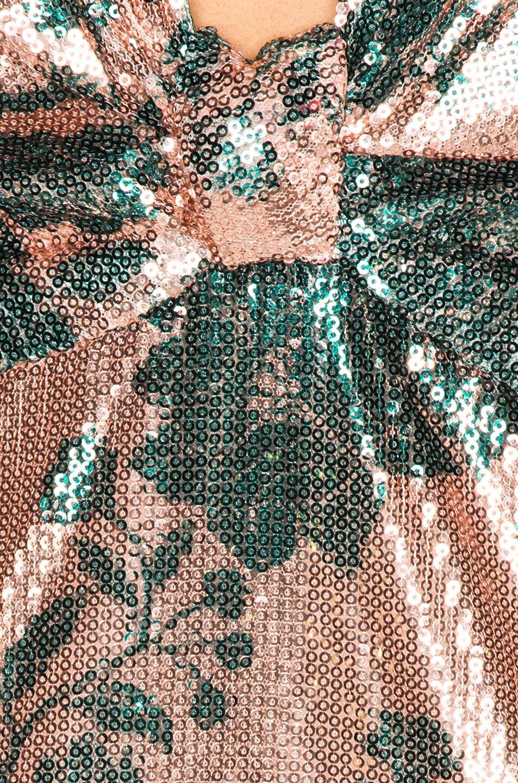 Image 4 of Johanna Ortiz Modern Day Muse Dress in Chestnut & Garden Jade Sequin