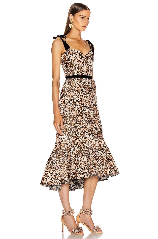 Image 2 of Johanna Ortiz Love Between Species Midi Dress in Leopard Blush