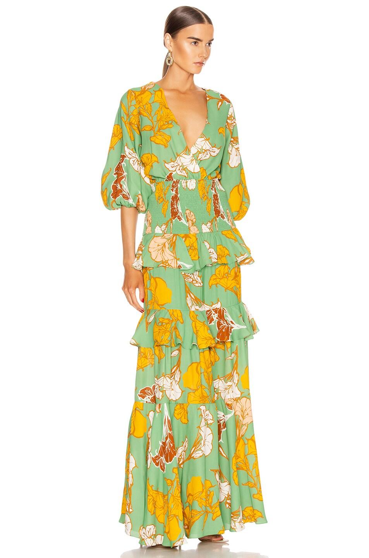 Image 2 of Johanna Ortiz Voila It's Art Maxi Dress in Spring Camellia