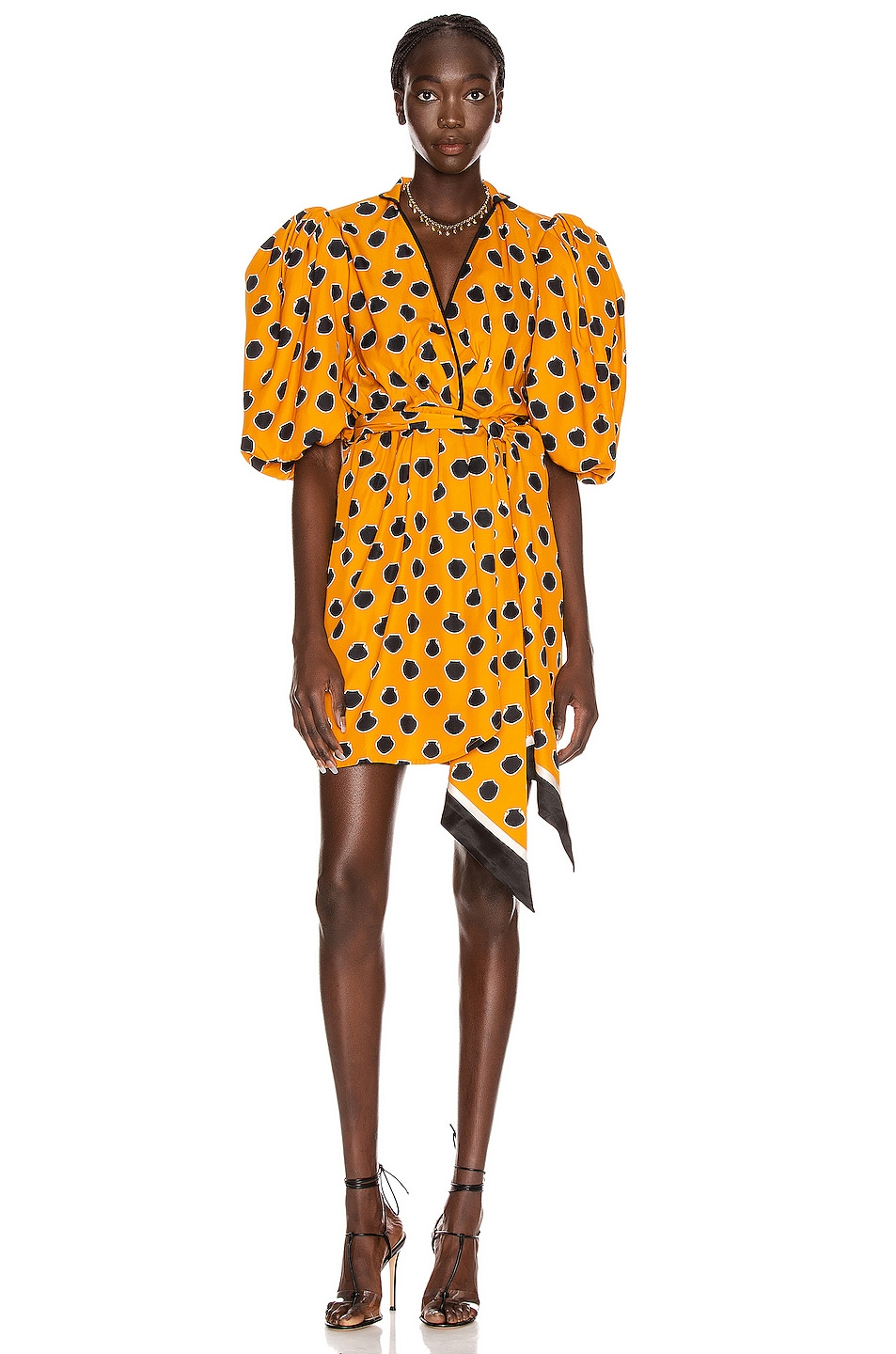 Image 1 of Johanna Ortiz Eccentric Words Mini Dress in Summer Mustard