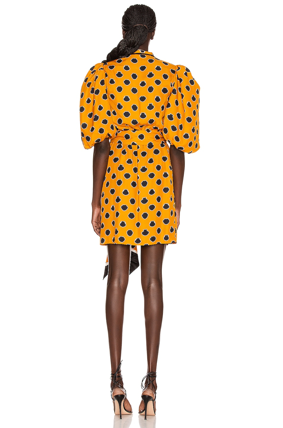Image 4 of Johanna Ortiz Eccentric Words Mini Dress in Summer Mustard