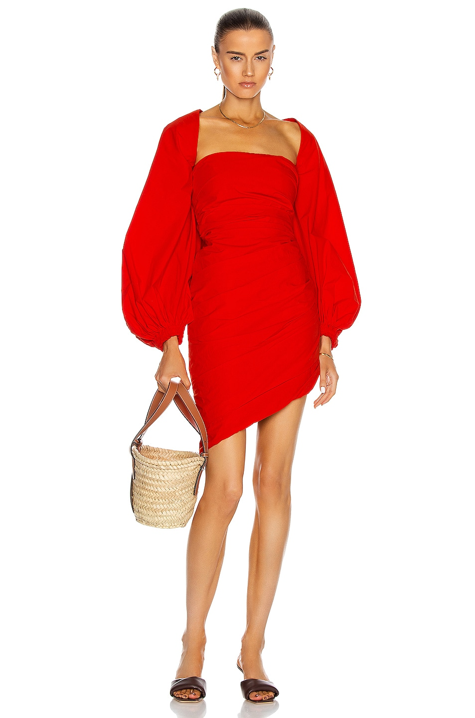 Image 1 of Johanna Ortiz Immerse Yourself Mini Dress in Tangerine Red