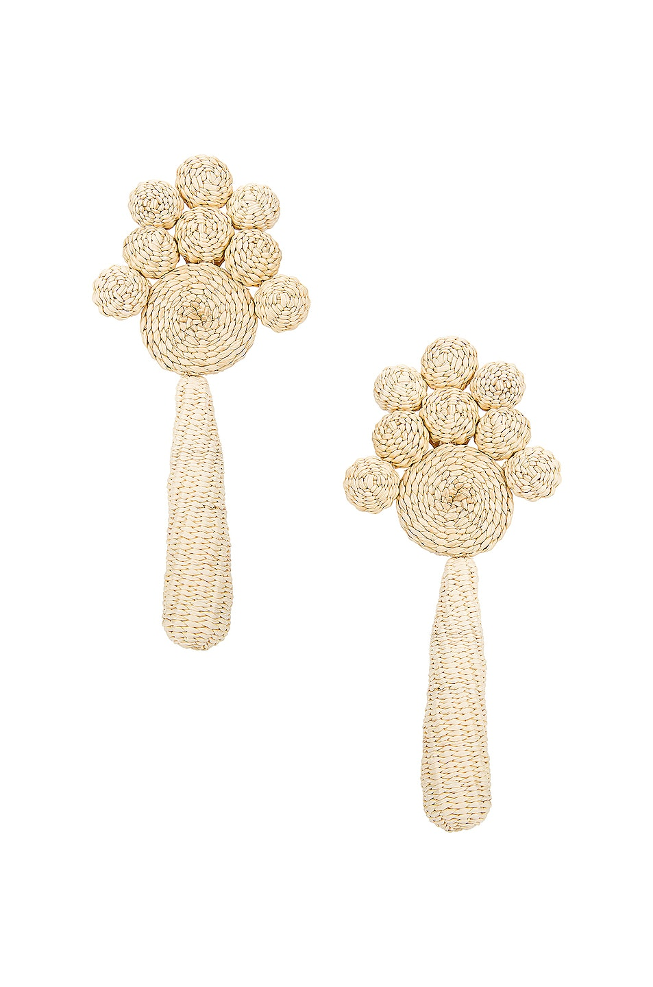 Image 1 of Johanna Ortiz Flowery Prose Earrings in Ecru