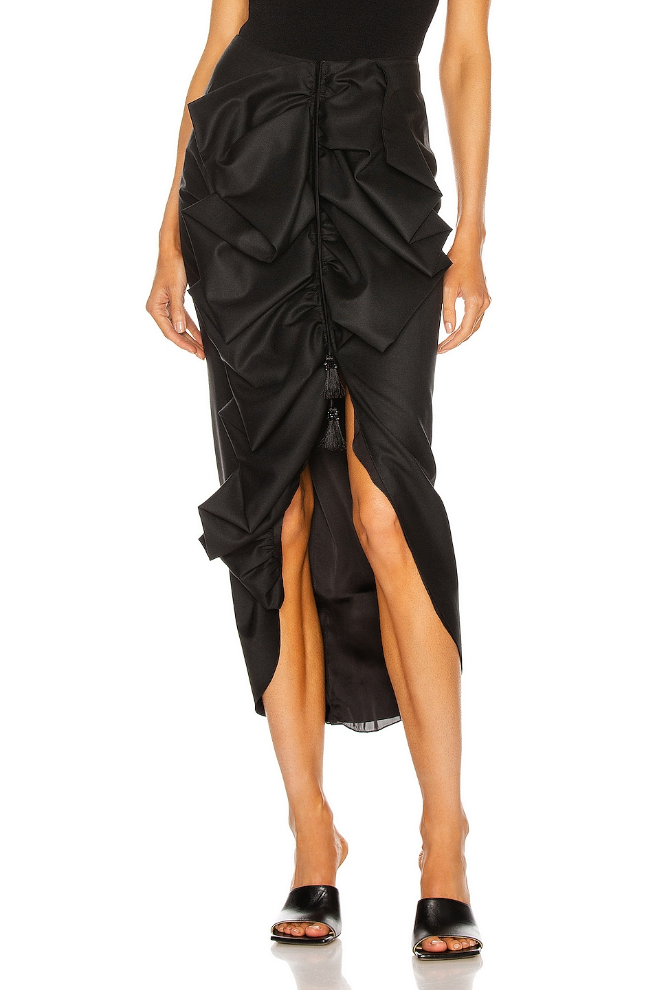 Image 1 of Johanna Ortiz Profound Opportunity Midi Skirt in Black