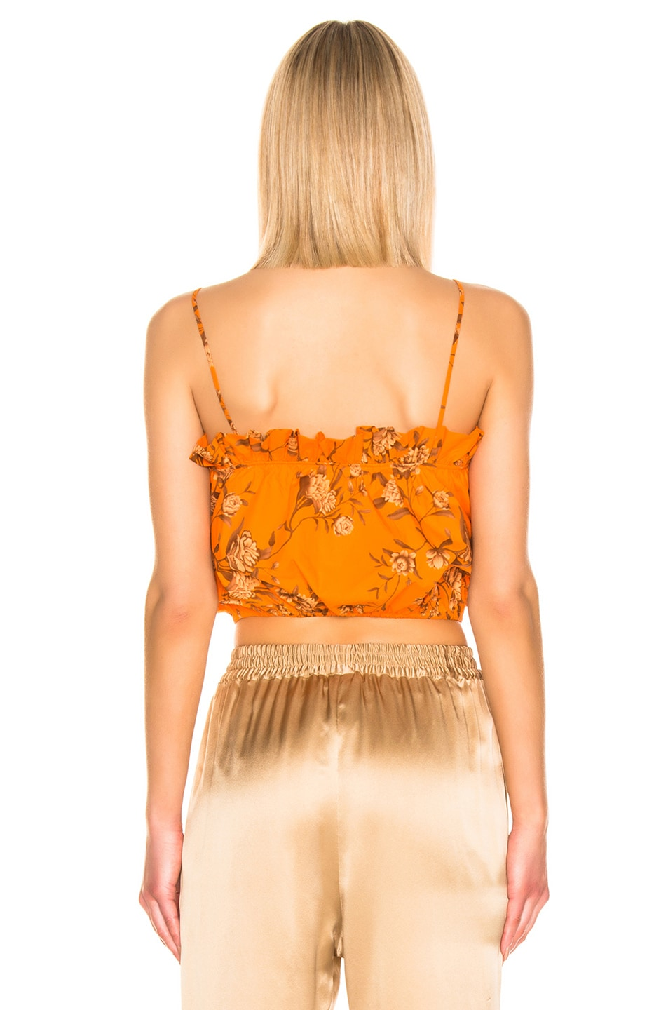 Image 3 of Johanna Ortiz Feu De Bois Top in Monk Orange & Camel