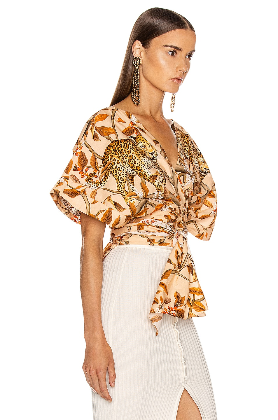 Image 2 of Johanna Ortiz Young and Wild Top in Soft Peach