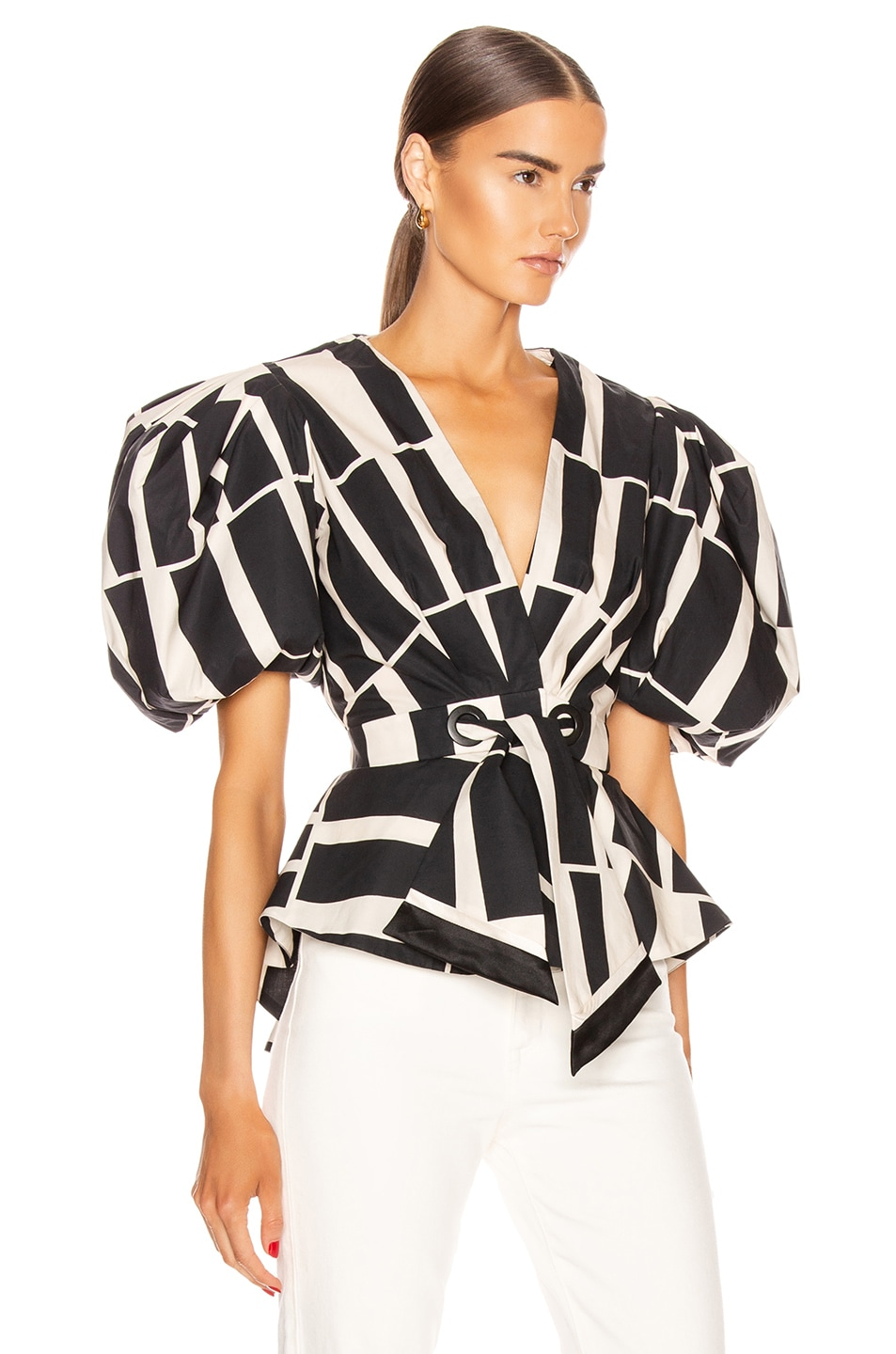 Image 2 of Johanna Ortiz Mastermind Top in Black & Ecru