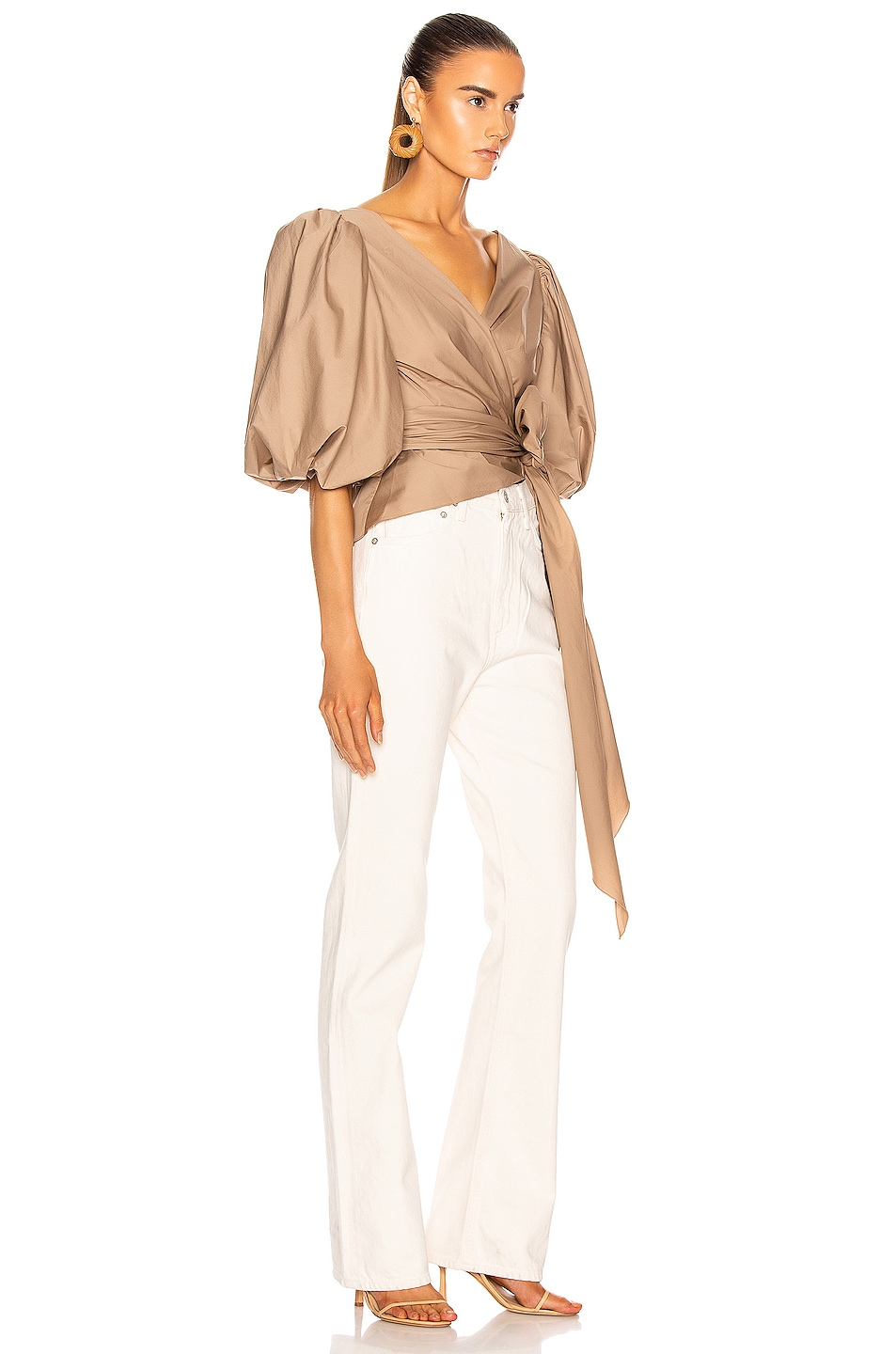 Image 2 of Johanna Ortiz Taupe Sabor Pacifico Top in Taupe