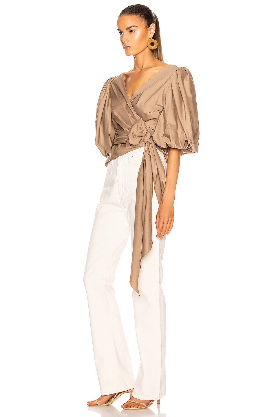 Image 3 of Johanna Ortiz Taupe Sabor Pacifico Top in Taupe
