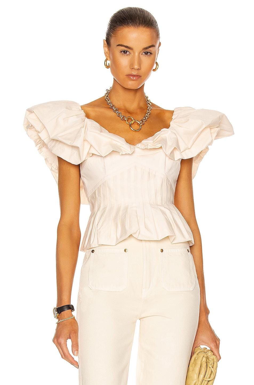 Image 1 of Johanna Ortiz Intellectual Femme Top in Ecru