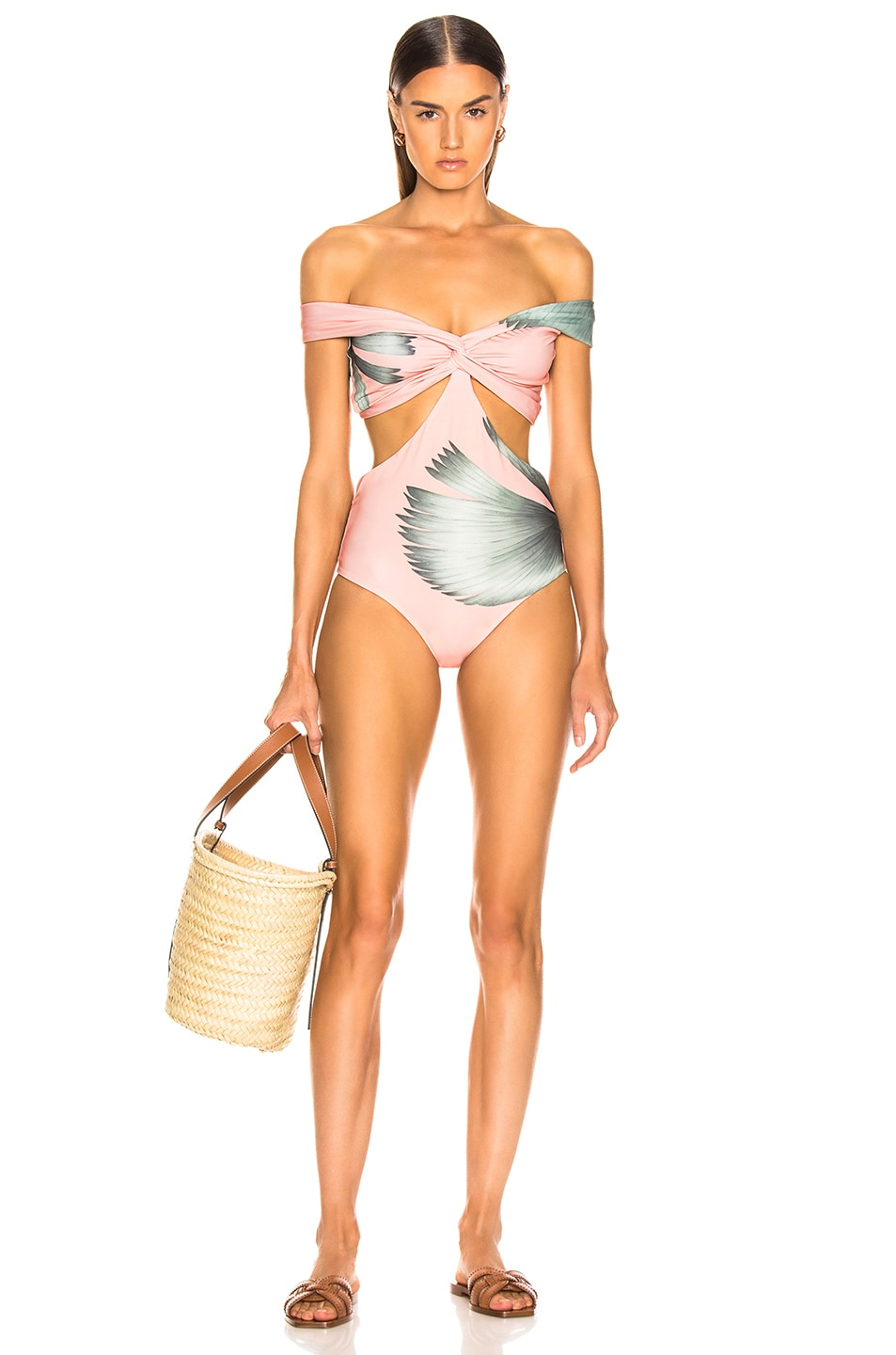 Image 1 of Johanna Ortiz Palm Beach One Piece in Kilim Beige