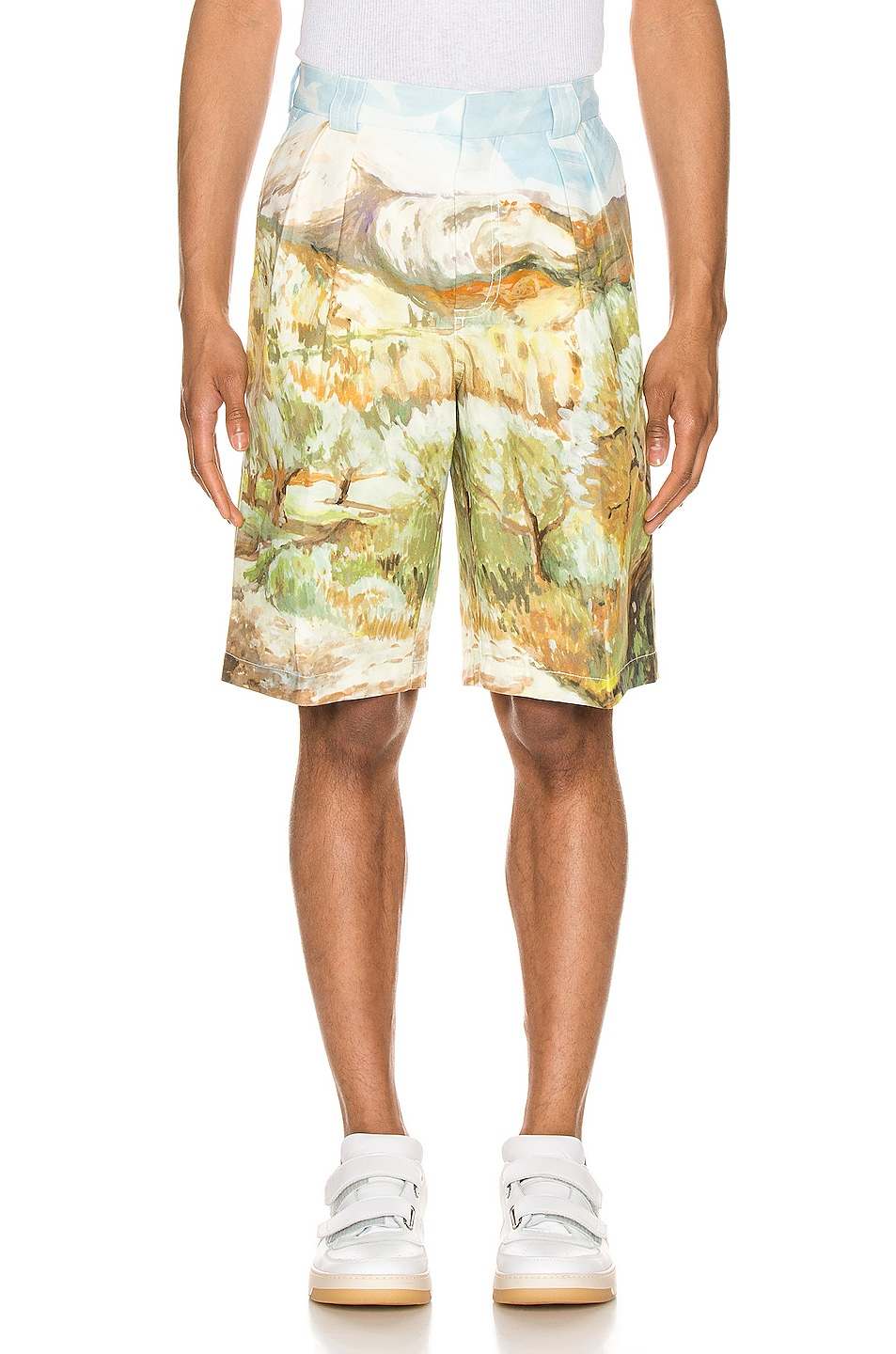 Image 1 of JACQUEMUS Costume Shorts in Landscape Print