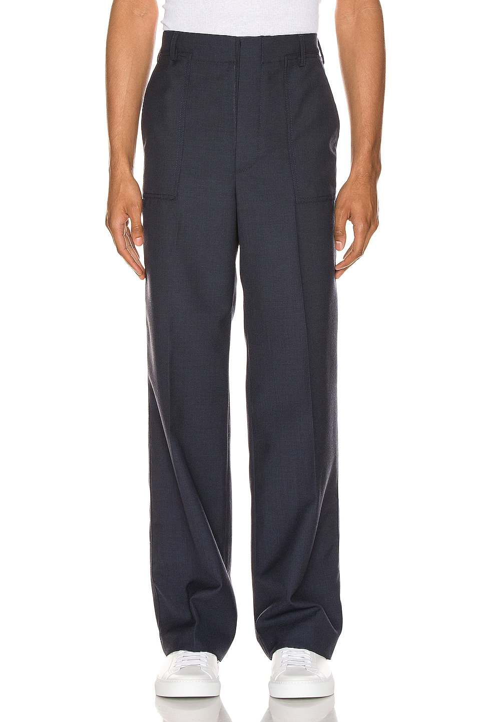 Image 1 of JACQUEMUS Trousers in Navy