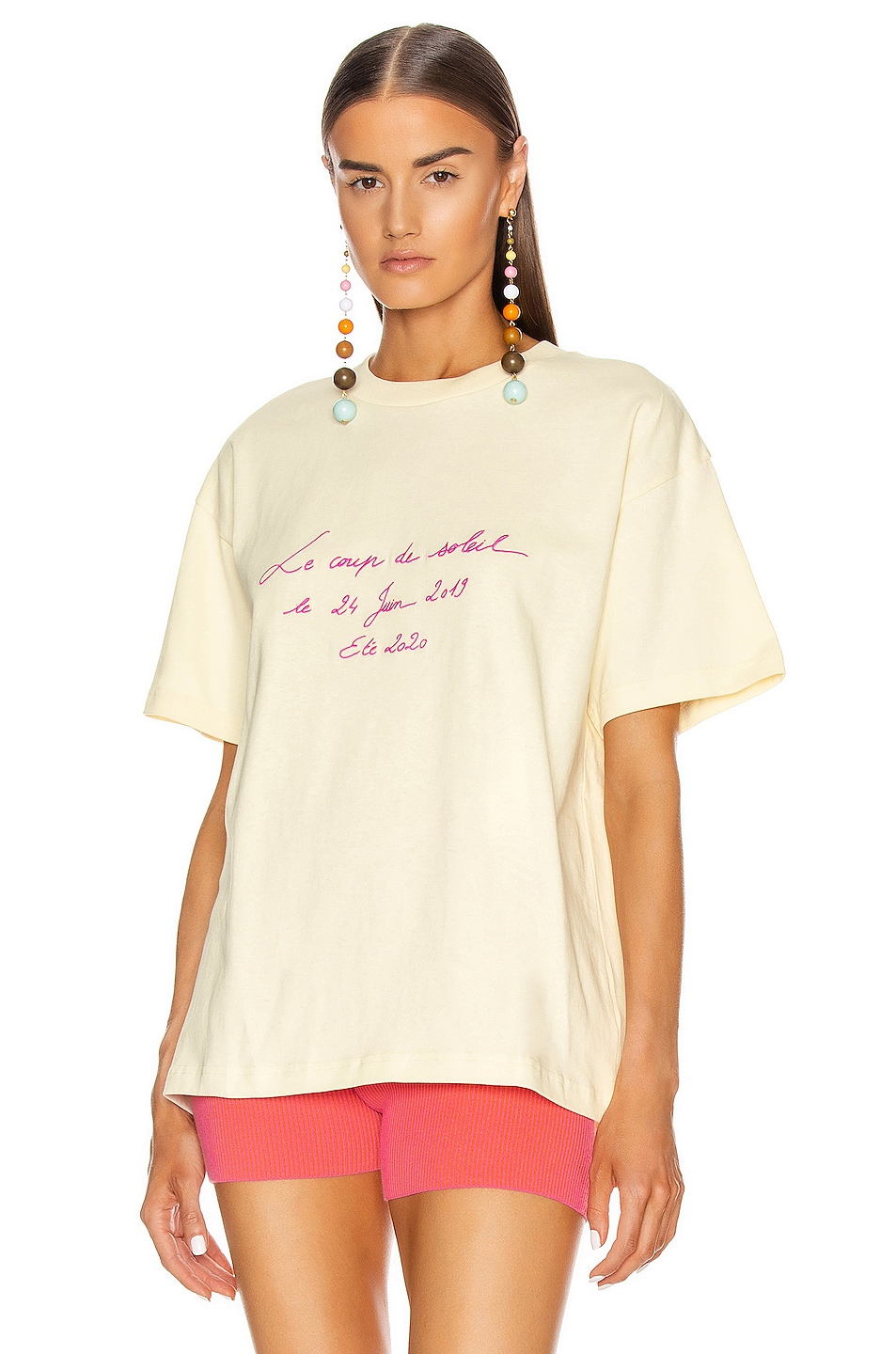Image 1 of JACQUEMUS Tee in Yellow