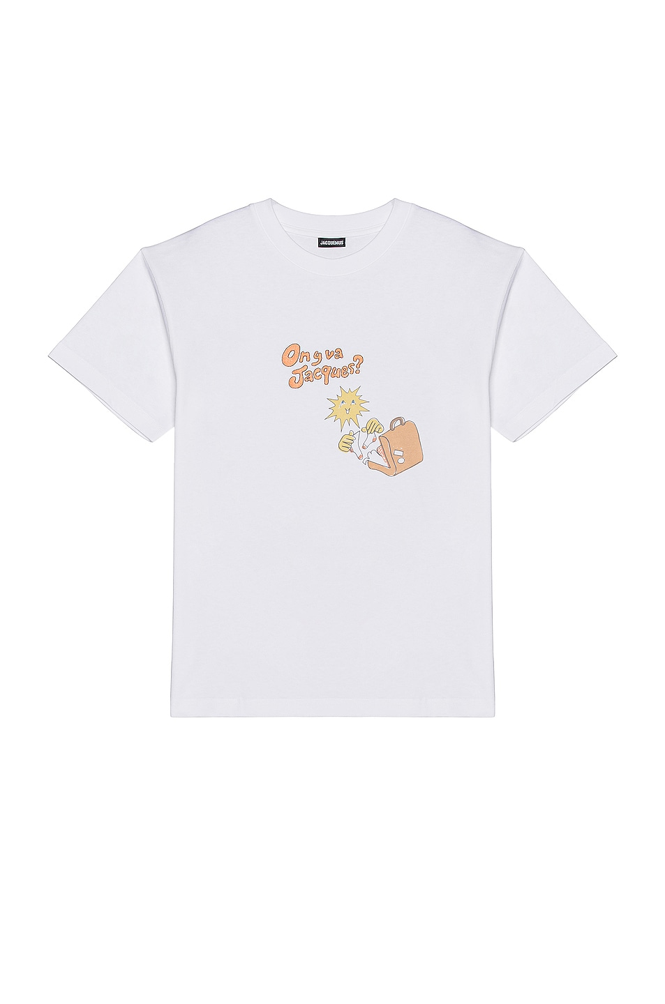 Image 1 of JACQUEMUS Jacques Tee in Orange