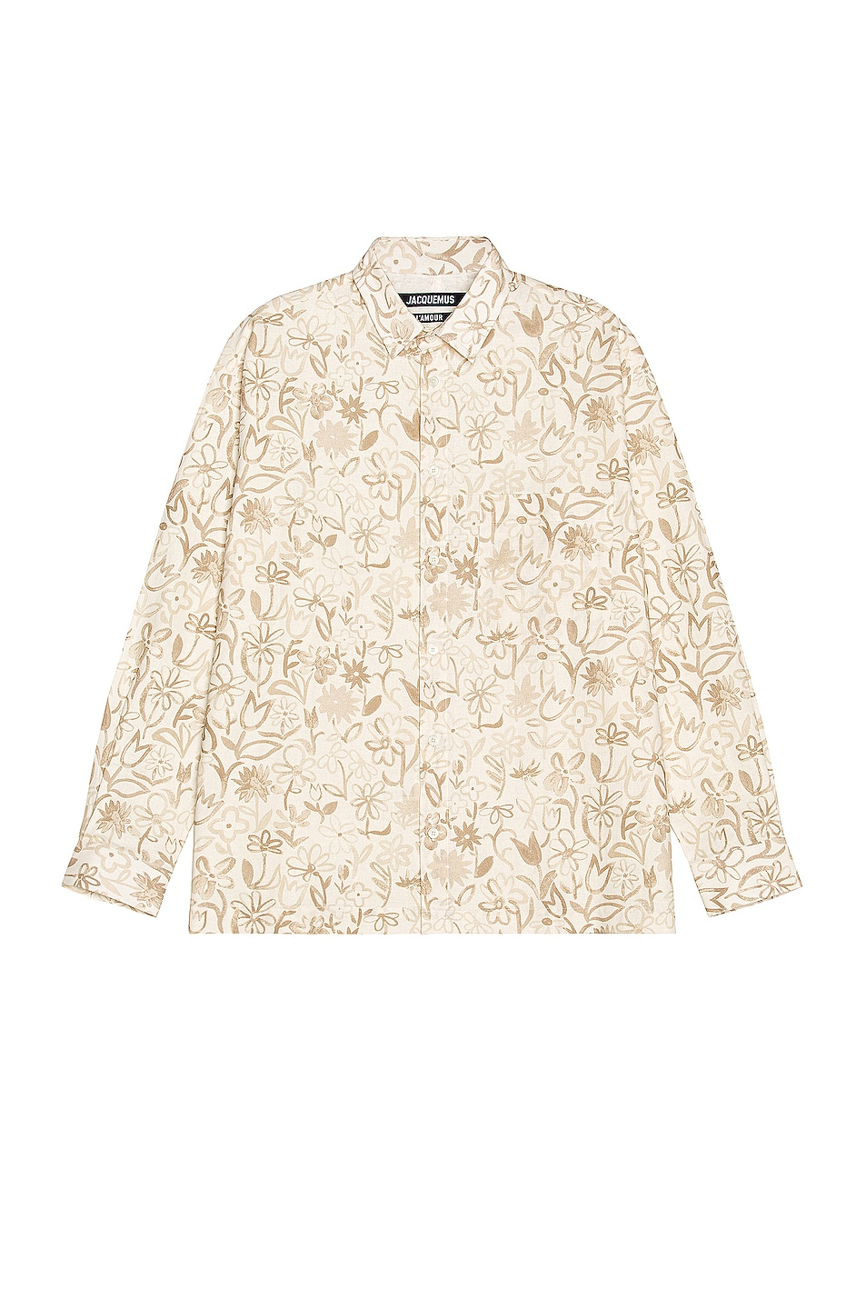 Image 1 of JACQUEMUS La Chemise Baou in Print Flowers
