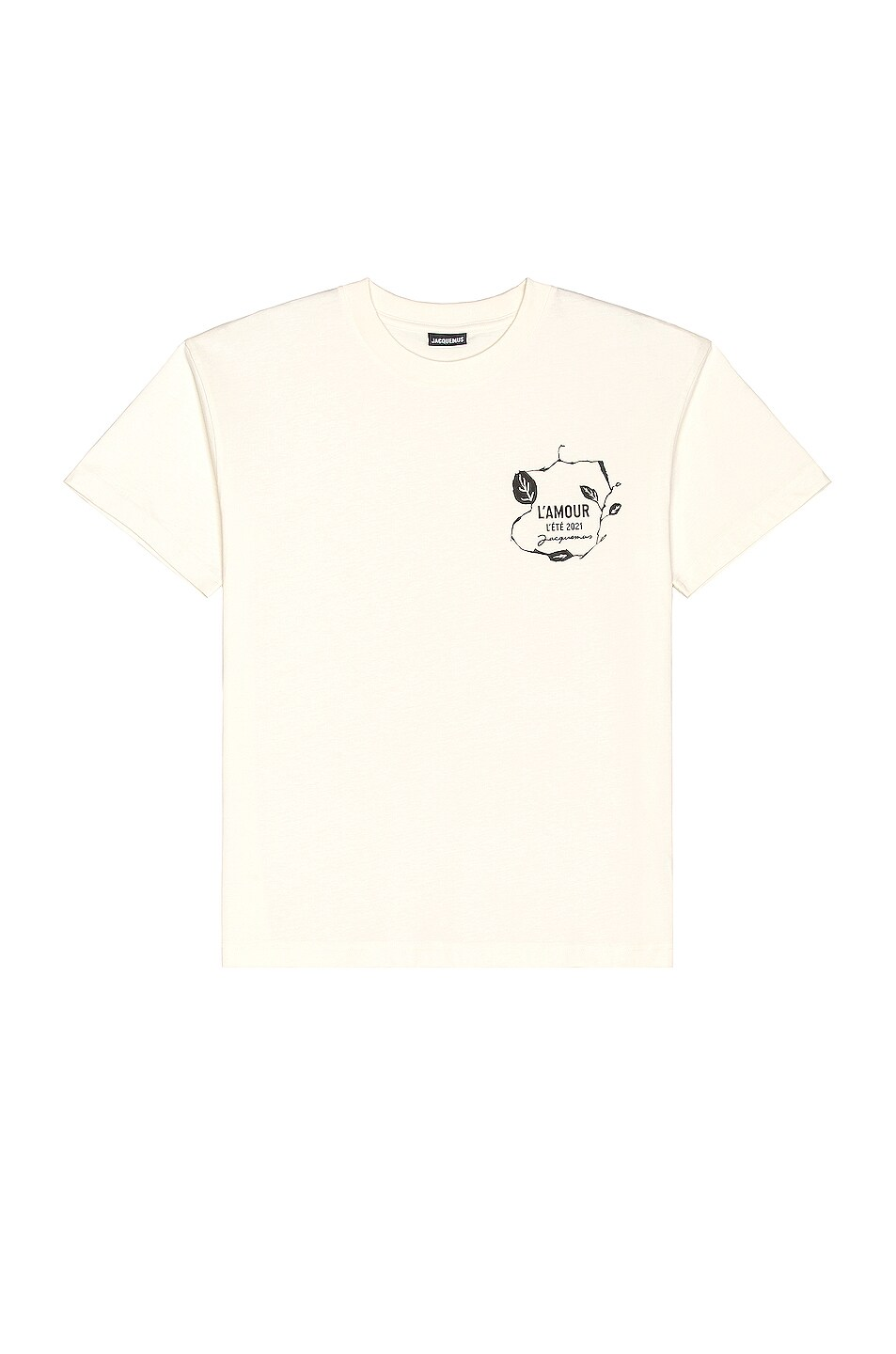 Image 1 of JACQUEMUS Le T-Shirt L'Amour in Off White